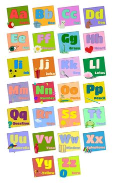 Colorful Alphabet Letters Royalty Free Stock Photography