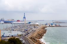 France. Sete.  An Output From  Port To The Gulf Stock Photography