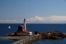 Free Fisgard Lighthouse Near Victoria , Vancouver Islan Stock Photography - 25644102