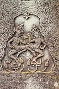 Free Khmer Art At Bayon Prasat, Angkor Thom Royalty Free Stock Images - 25646169