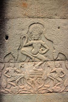 Free Khmer Art At Bayon Prasat, Angkor Thom Royalty Free Stock Images - 25646329