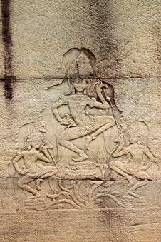 Free Khmer Art At Bayon Prasat, Angkor Thom Stock Photos - 25646393