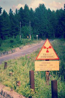 Warning Of Gamma Radiation Royalty Free Stock Photo