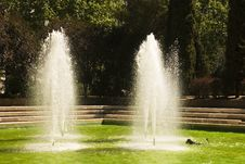 Free Fountain In The Park Azca Stock Photography - 25647342