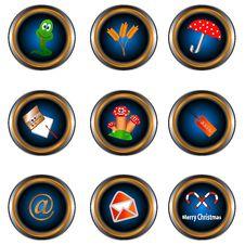Free Nine Unique Icons Stock Photos - 25648343