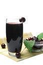 Free Juice With Fresh Cherries Royalty Free Stock Photo - 25654705