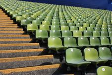 Free Empty Stadium Seats Royalty Free Stock Image - 25650476