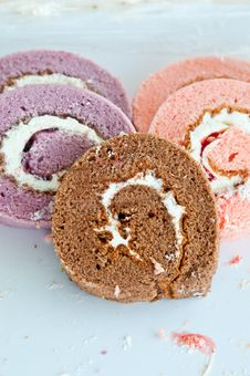 Free Swiss Roll Stock Photography - 25653012
