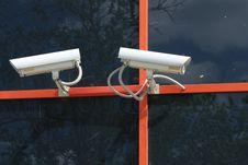 Outdoor Cameras Stock Image