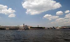Free Spit Of Vasilevsky Island Royalty Free Stock Image - 25656946
