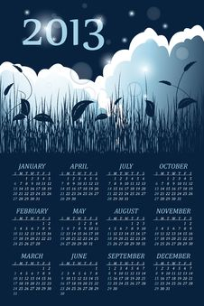 Free 2013calendar Royalty Free Stock Images - 25658189