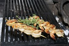 Free Grilled Shrimp Royalty Free Stock Images - 25658239