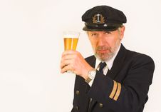Free Seaman's Invitation To Have A Glass Of Beer Stock Photos - 25658683
