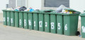 Free Row Of Large Green Bins Stock Photo - 25663590