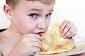 Free Eating Boy Stock Photo - 25669320
