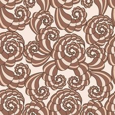 Vector Seamless Pattern With Spirals Stock Image