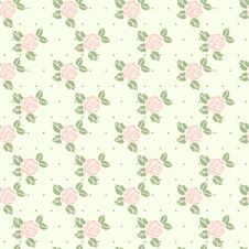 Free Beautiful Seamless Pattern With Roses Royalty Free Stock Photography - 25662367