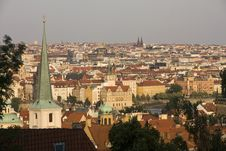 Free Prague Roofs Stock Photos - 25662373
