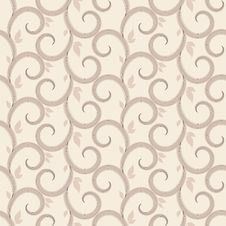 Free Vector Seamless Pattern With Swirls Stock Photography - 25662402
