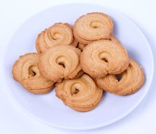 Free Cookies In The White Plate Royalty Free Stock Image - 25662706
