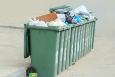 Free Row Of Large Green Bins Stock Images - 25663634