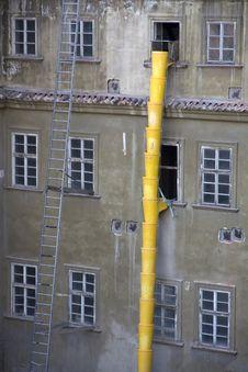 Free Yellow Construction Waste Chute Stock Photography - 25663642