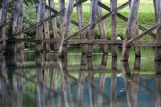 Free Old Wooden Bridge Royalty Free Stock Photography - 25664237