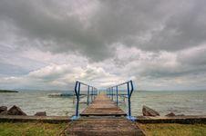 Free Footbridge At The Balaton Stock Images - 25664444