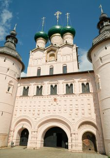 Entrance To The Kremlin Of Rostov The Great Royalty Free Stock Image