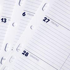 Free Calendar Sheets Stock Photography - 25665702