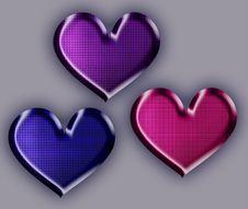 Free Jelly Hearts Royalty Free Stock Photos - 25667578