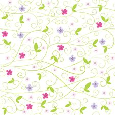 Free Flower Pattern Royalty Free Stock Photography - 25667637