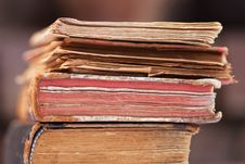 Free Pile Of Antique Books Stock Photo - 25669910