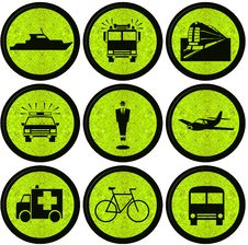 Free Transport Icons Royalty Free Stock Photography - 25675467