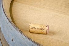 Cork Labelled Organic Wine Royalty Free Stock Photo