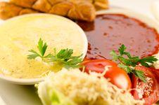 Tomato And Mustard Sauce Stock Photo