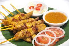 Free Pork Satay Stock Photography - 25678462