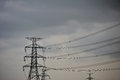 Free High Voltage Towers. Royalty Free Stock Photography - 25683947