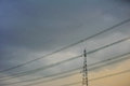 Free High Voltage Towers. Royalty Free Stock Photography - 25684487
