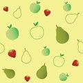 Free Seamless Fruits Pattern Stock Photography - 25686512