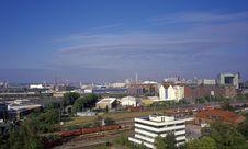 Aerial View On Hamburg S Marine Port Royalty Free Stock Photo