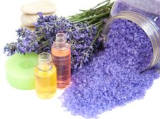 Free Lavender Cosmetic Royalty Free Stock Image - 25681986