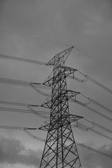 Free High Voltage Towers. Stock Images - 25683874