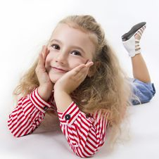 Free Cheerful Little Girl Smile. Stock Photography - 25684372