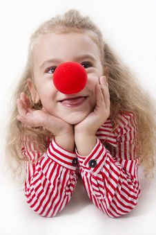 Free Cheerful Little Girl Smile. Royalty Free Stock Photography - 25684427
