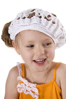 Free Cheerful Little Girl Smile. Stock Photo - 25684830