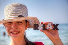Free Teen Girl At A Beach Royalty Free Stock Image - 25685086