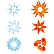 Free Set Of Six Day And Night Symbols Royalty Free Stock Photos - 25686318