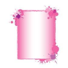Free Pink Paint Splash Frame Stock Photo - 25686420