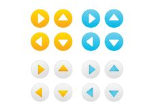 Free Arrow Icons Set Royalty Free Stock Image - 25689346